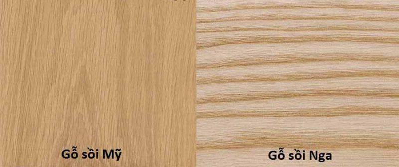 phân biệt gỗ sồi nga sồi mỹ