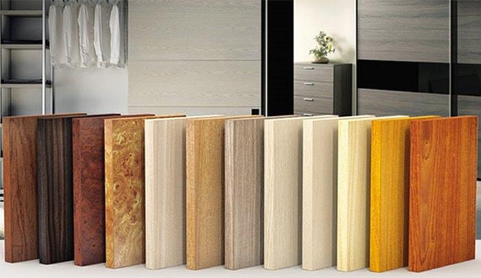 Chất liệu gỗ melamine