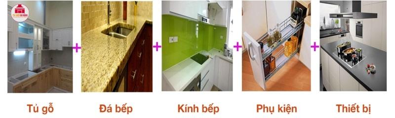 Bộ tủ bếp gỗ trọn gói bao gồm những gì?