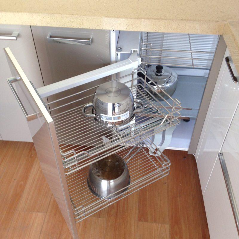 Kệ liên hoàn góc , tối ưu góc tủ bếp
